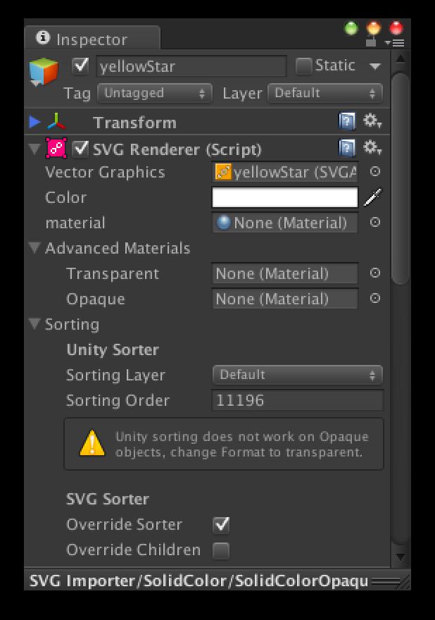 Documentation | SVG Importer | Vector Graphics Plugin for